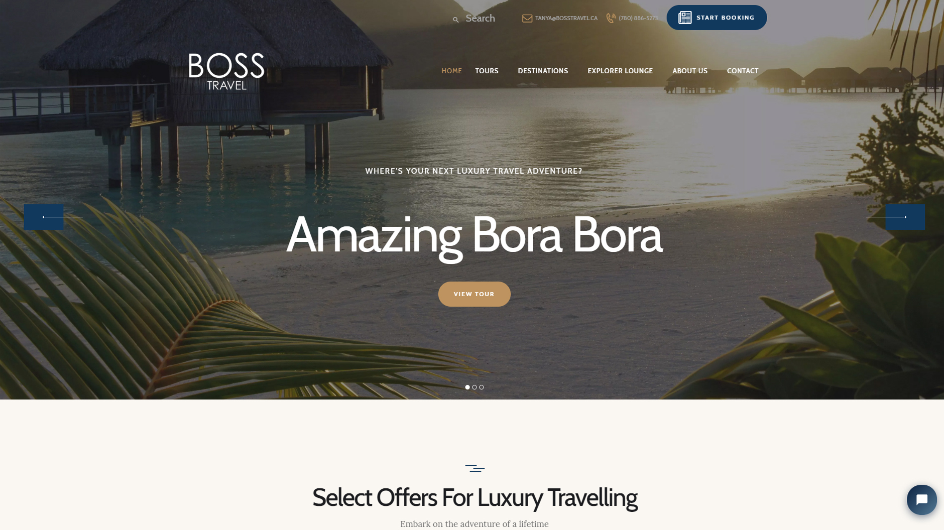 Website Project - Boss Travel