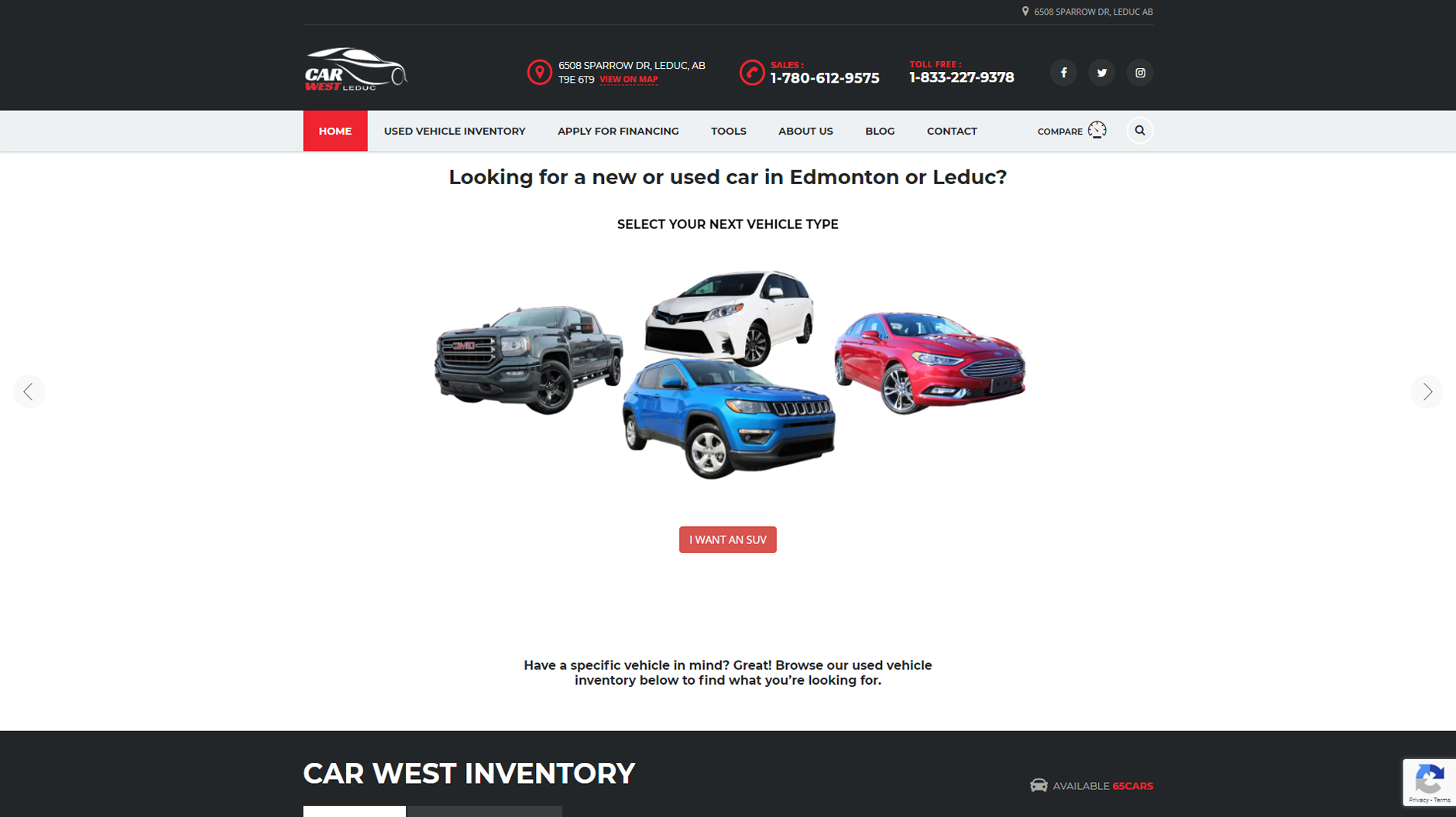 Website Project - Car West Auto Sales