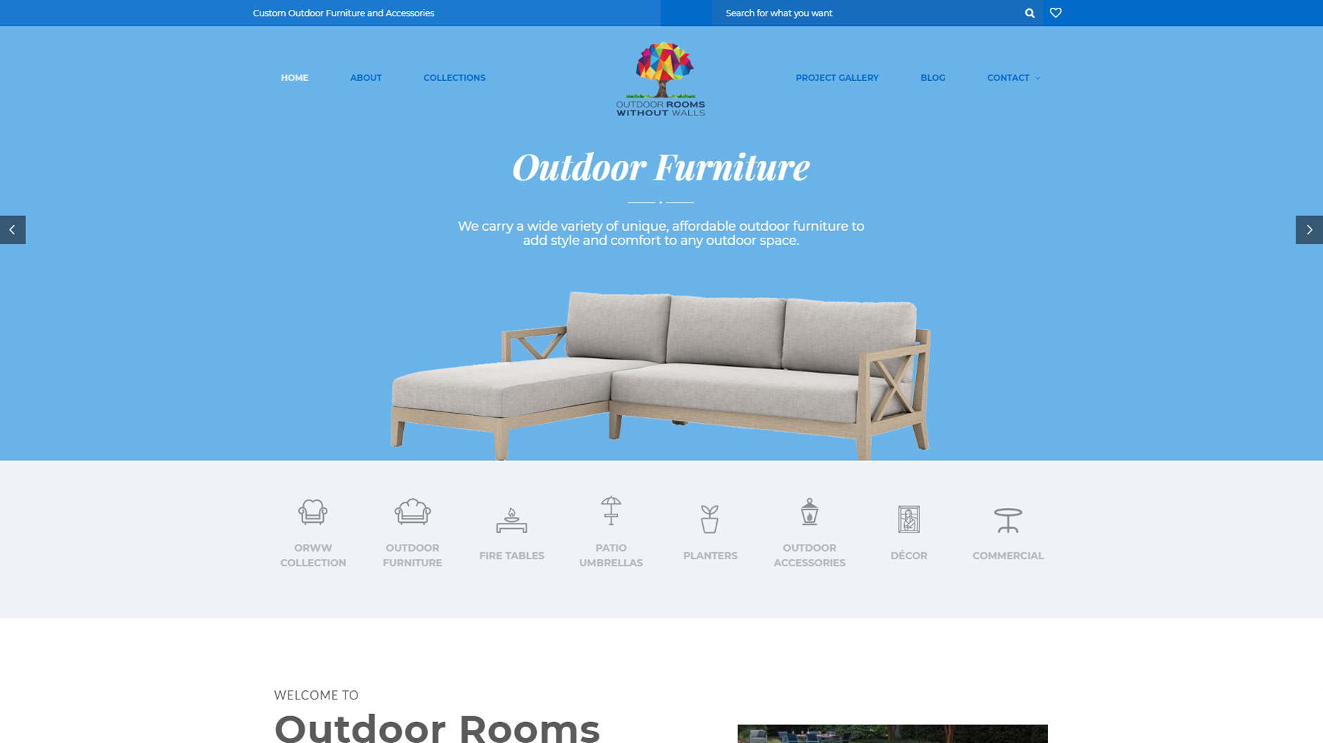 Website Project - Outdoor Rooms Without Walls