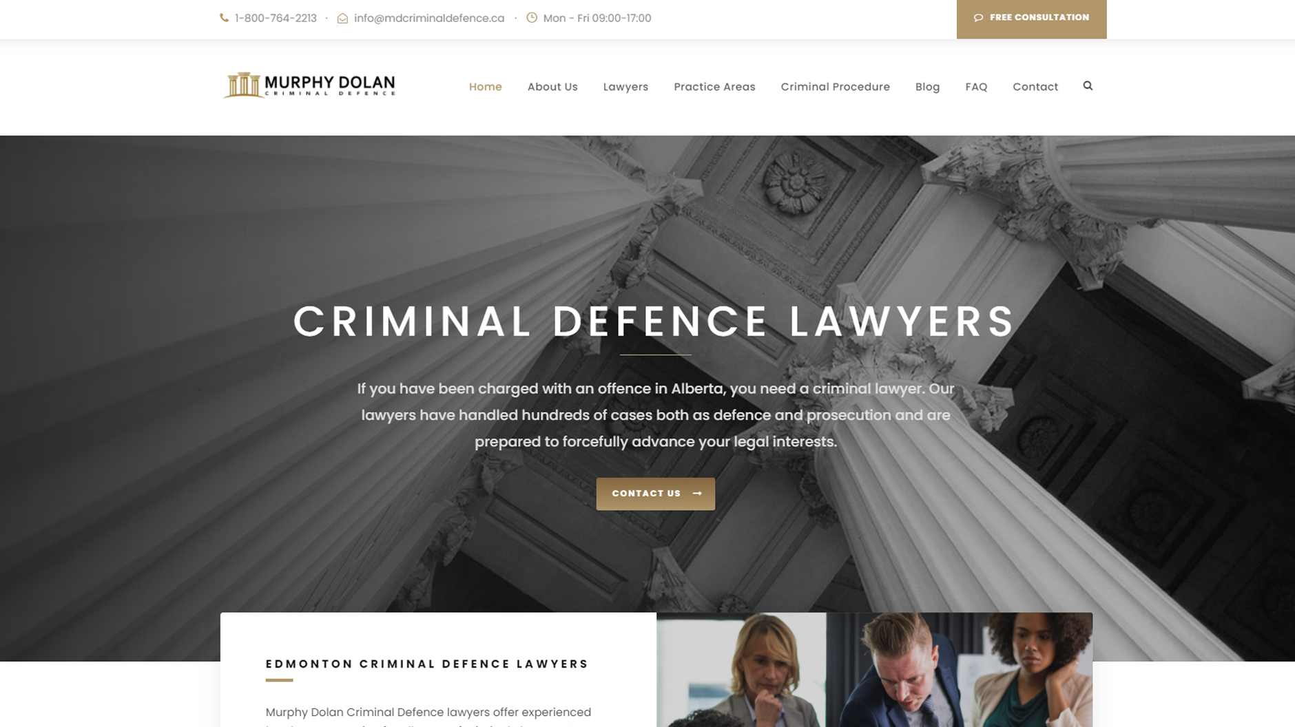 Website Project - Murphy Dolan Criminal Defence