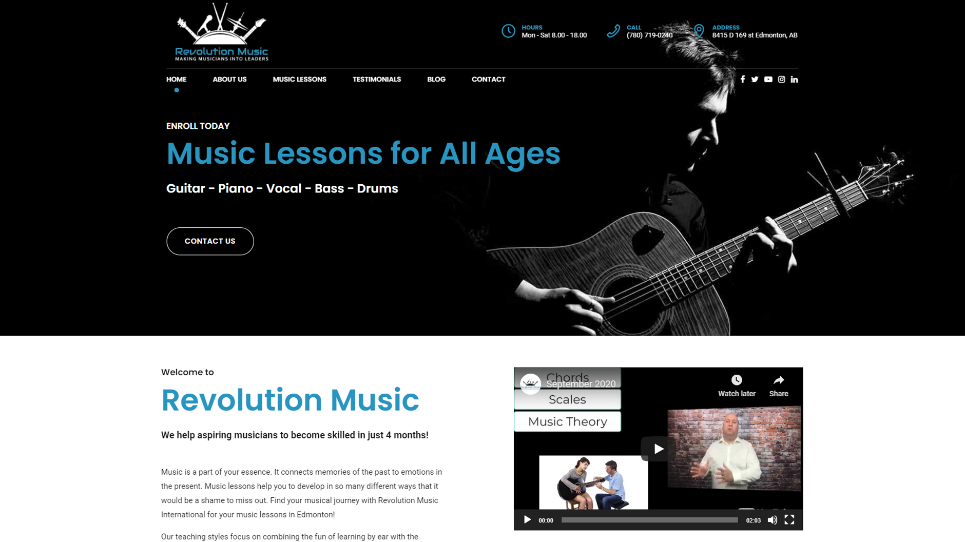 Website Project - Revolution Music